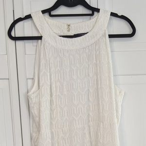 White Tommy Hilfiger sleeveless swing Dress.